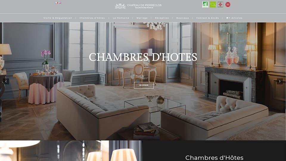 site internet Château de Pierreclos