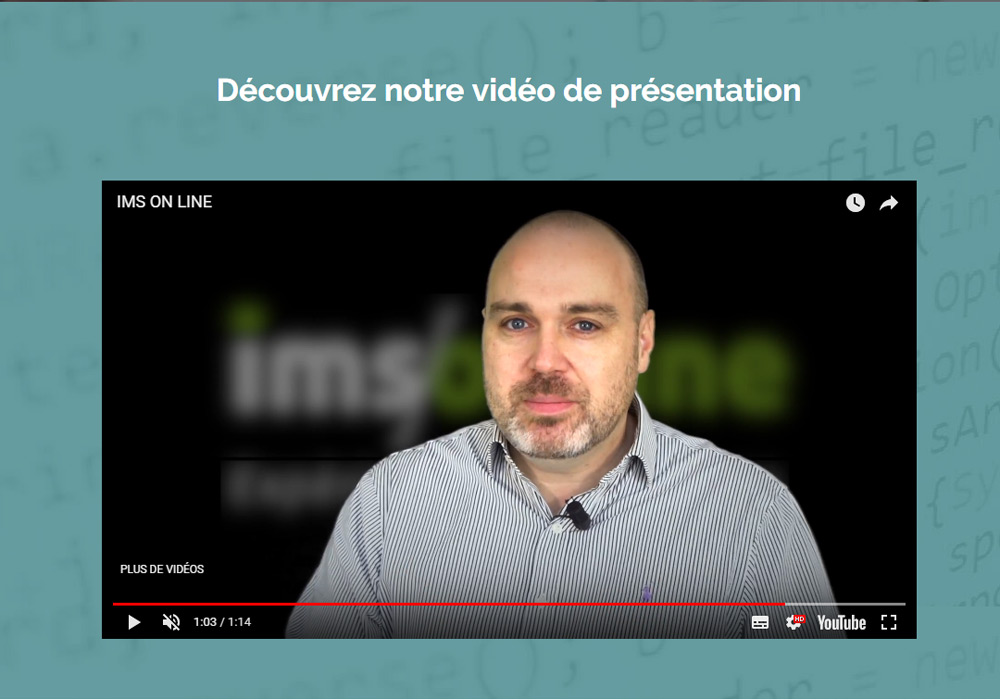 video de presentation ims on line