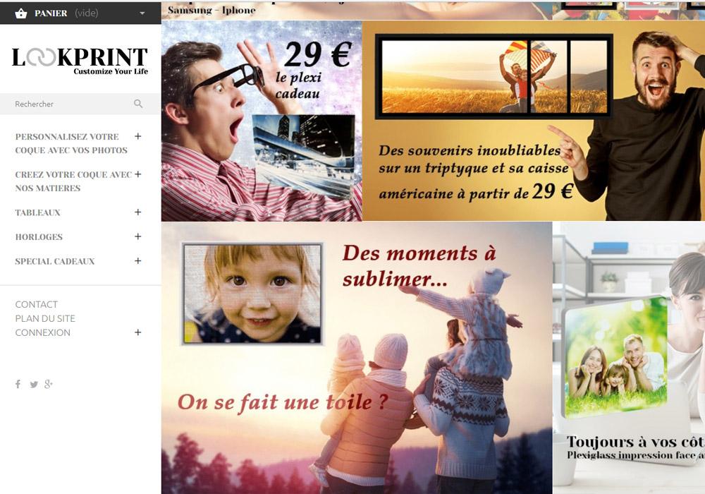 lookprint site e-commerce