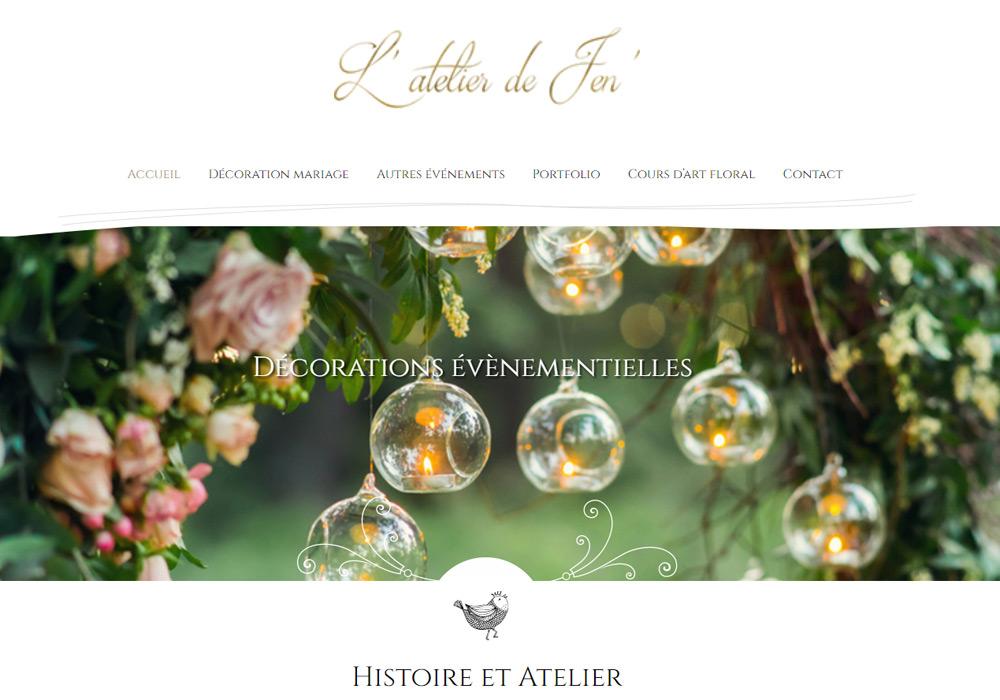 Création d'un nouveau site web pour l'Atelier de Jen'