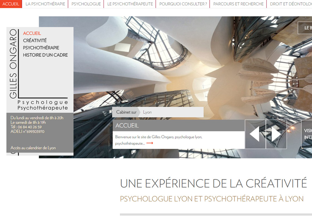 maintenance referencement site psychologue lyon ongaro