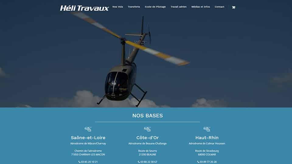 Site internet Hélitravaux