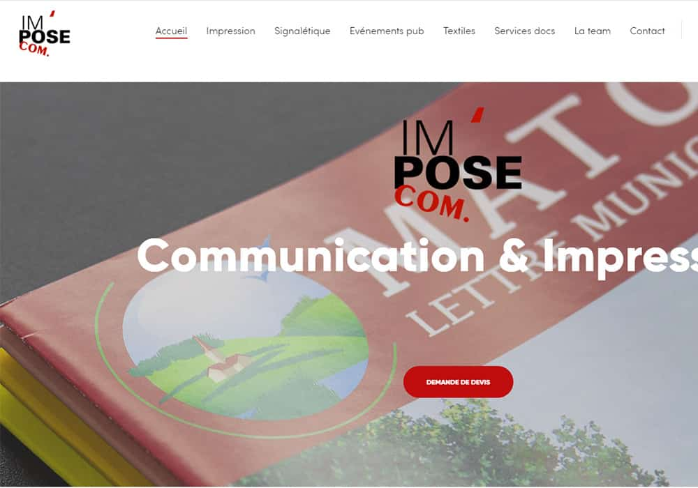 site web impose communication