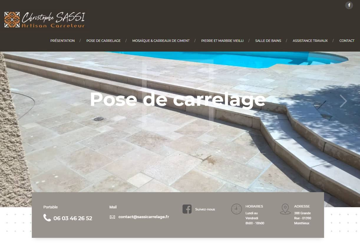 sassi carrelage site internet